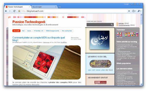 Passion Technologeek sur Chrome