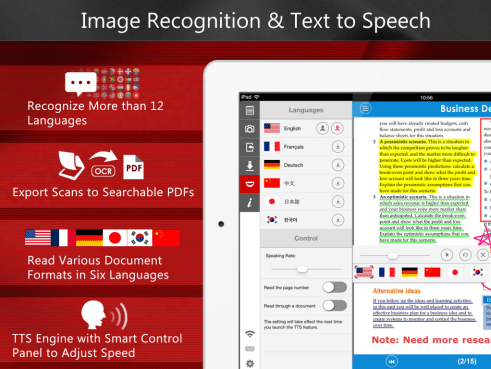 Image recognition and Text-to-Speech