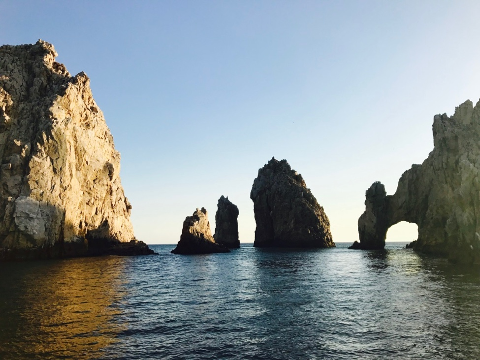 Lands' End: the famous arch in Los Cabos, a completely natural structure. The cruise took us to see these structures, famous beaches, and into the sunset.