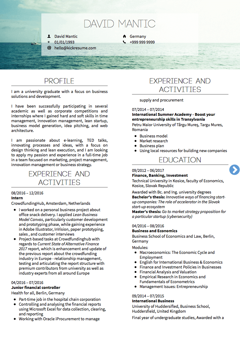 junior product manager resume sample