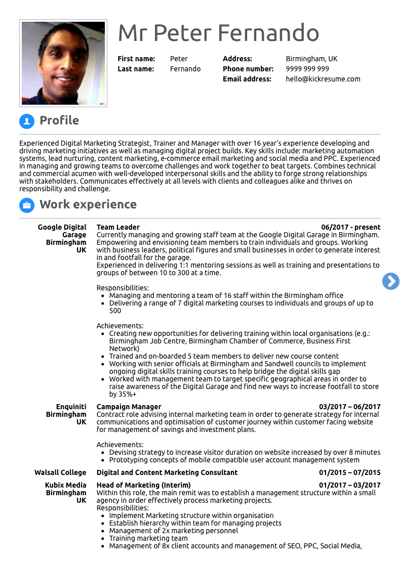 resume introduction lesson