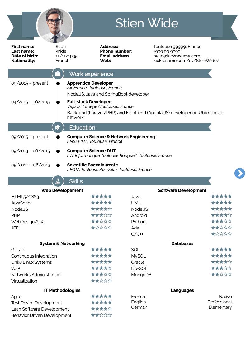 specific resume examples