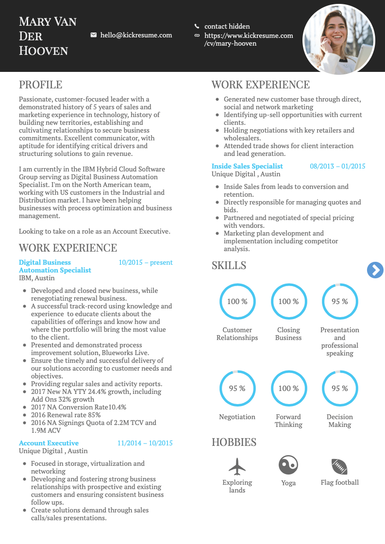 sample it resume for google