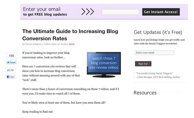 How to Grow Your Email Marketing List to 5 Digits and Beyond - email marketing sample