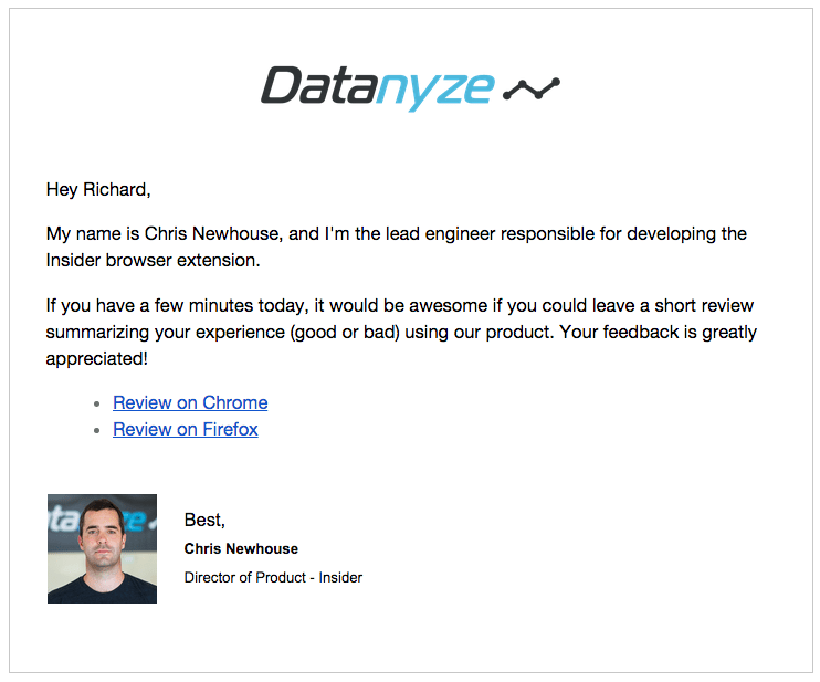 datanyze-insider-product-review-email