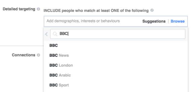 targeting bbc facebook
