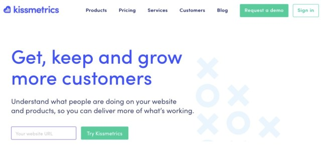 kissmetrics homepage CEA