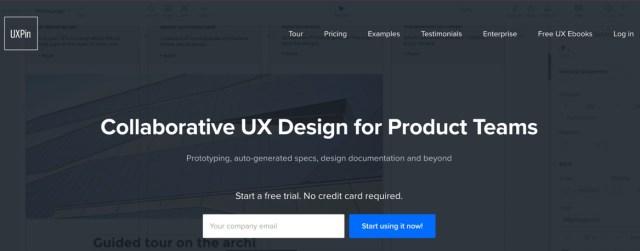 uxpin homepage 2017