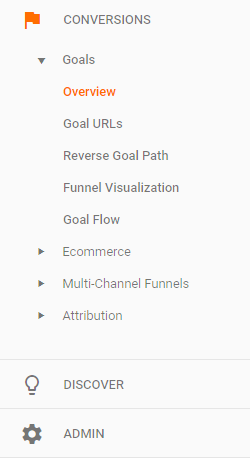 where to find goals overview in google analytics