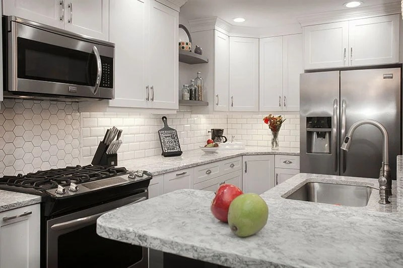 Cream Kitchen Island Unit What Countertop Color Looks Best With White Cabinets?