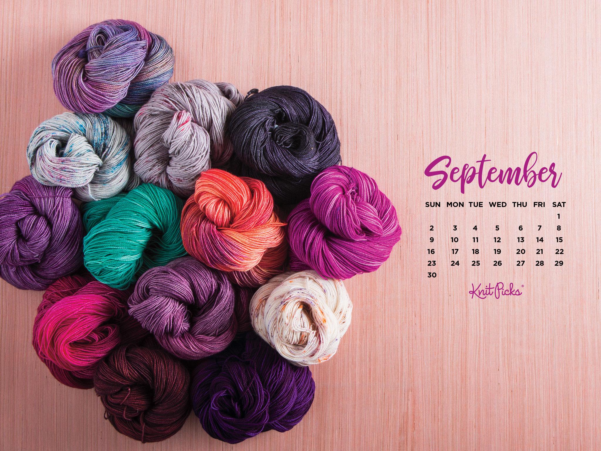 Pretty Wallpapers For Fall Free Downloadable September 2018 Calendar Knitpicks