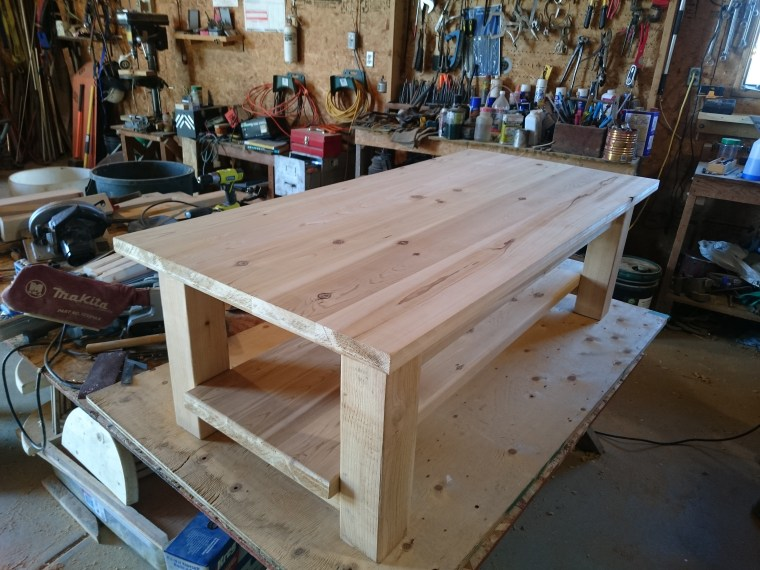 A pretty close to completed coffee table!