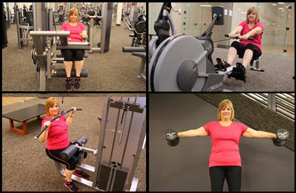 Mary-Collage-Training at LA Fitness San Antonio