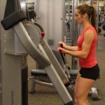 Bethany doing standing cable curls option 2 at LA Fitness 2