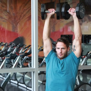 James-performing-shoulder-press-drop-set-at-LA-Fitness-4