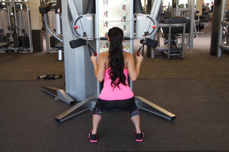 Nico Performing Row to Squat at LA Fitness - 2