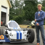Teenager builds electric car $.02 a mile to operate!