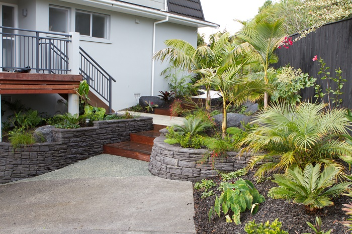 Tropical delight on the shore peter fry for Study landscape design