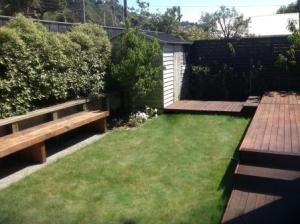 Back garden space after