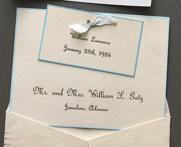 A Birth Announcement in 1926 \u2013 Larry Gatz Photography