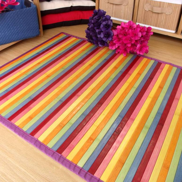 Y m s alfombras de bamb de colores blog de latiendawapa - Alfombra de bambu ...