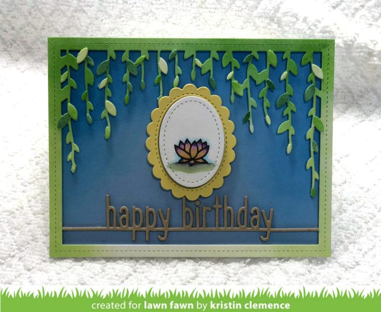 An Elegant Birthday Card by Kristin - Lawn Fawn