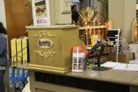 """This """"old time cash register"""" was custom built for the booth by Carl Croskey."""