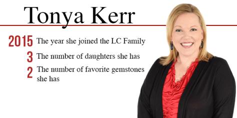 Tonya Kerr by the numbers