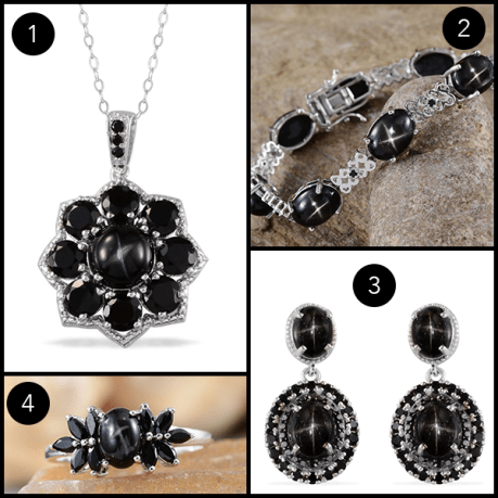 Rare and Exotic Gemstones - Indian Black Star Diopside Jewelry