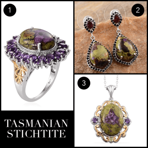 Rare and Exotic Gemstones - Tasmanian Stichtite Collage