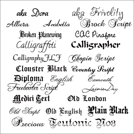 Fancy Calligraphy Fonts Literary Spring Designs