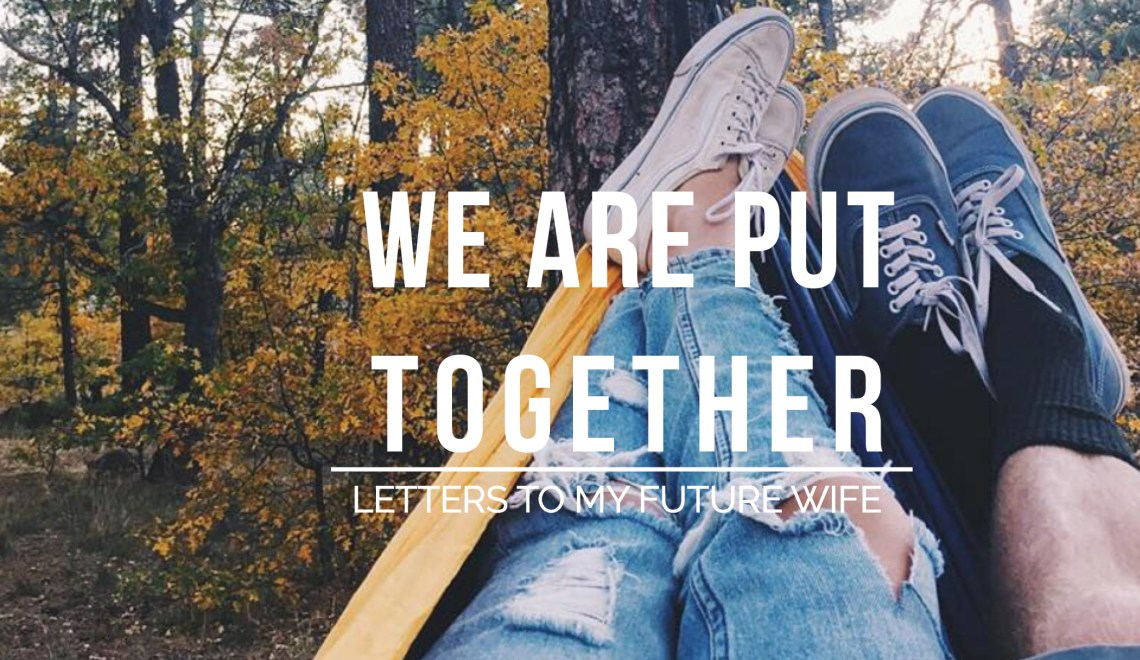 We Are Put Together // Letters To My Future Wife