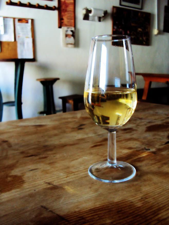 Un bicchere di sherry di Jerez del la Frontera