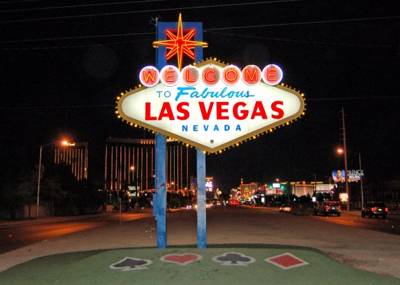 "Famous  ""Welcome to Fabulous Las Vegas Nevada"" sign © LoveToEatAndTravel.com"