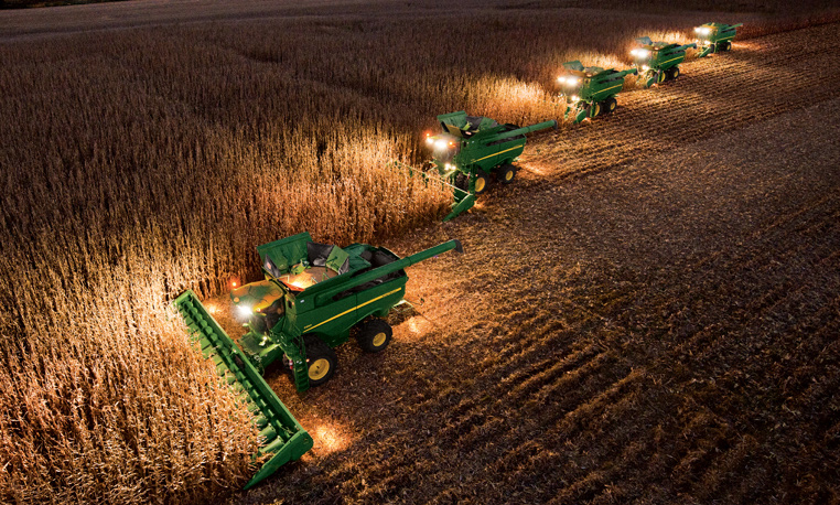 Fall Harvest Wallpaper Image Gallery 20 John Deere Headers Turning Corn Into Cash