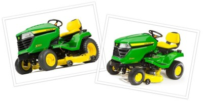 John Deere Equipment Comparison: X300 and X500 Riding Lawn Tractors