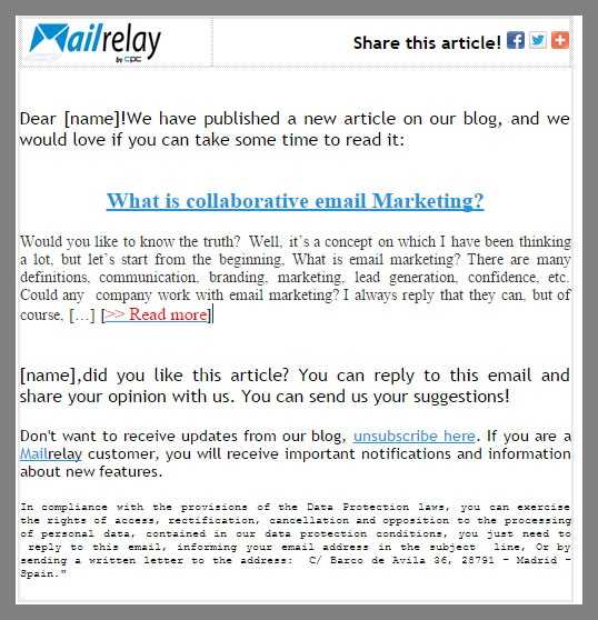 Is it possible to increase the click rates using animated GIF in - email marketing sample