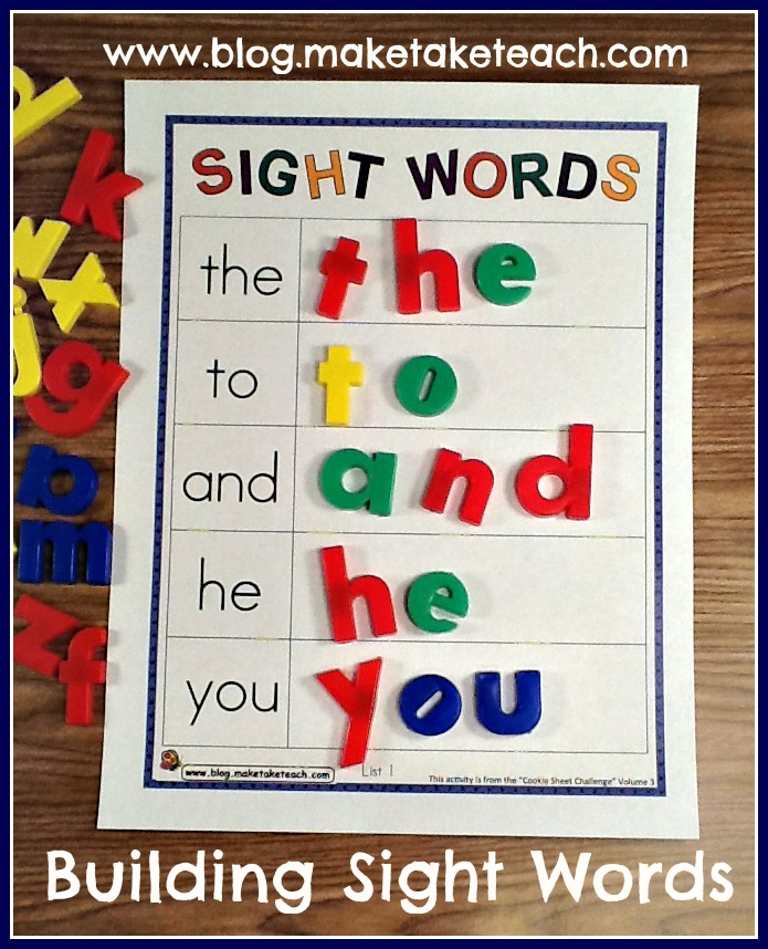 Teaching Sight Words - Make Take  Teach