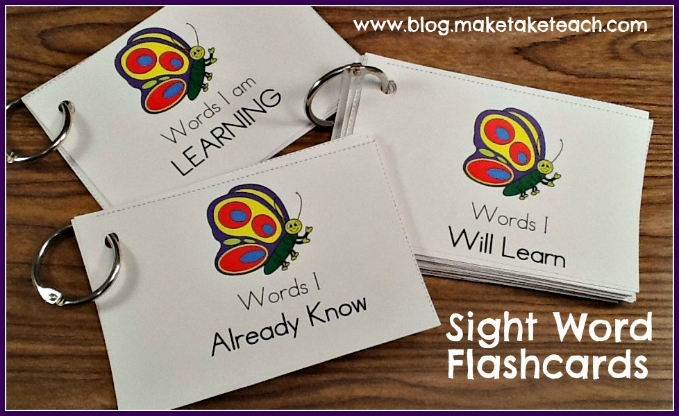 Teaching Sight Words - Make Take  Teach - dolch sight word flashcards