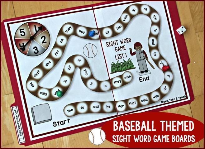 Baseball Sight Word Bundle - Make Take  Teach