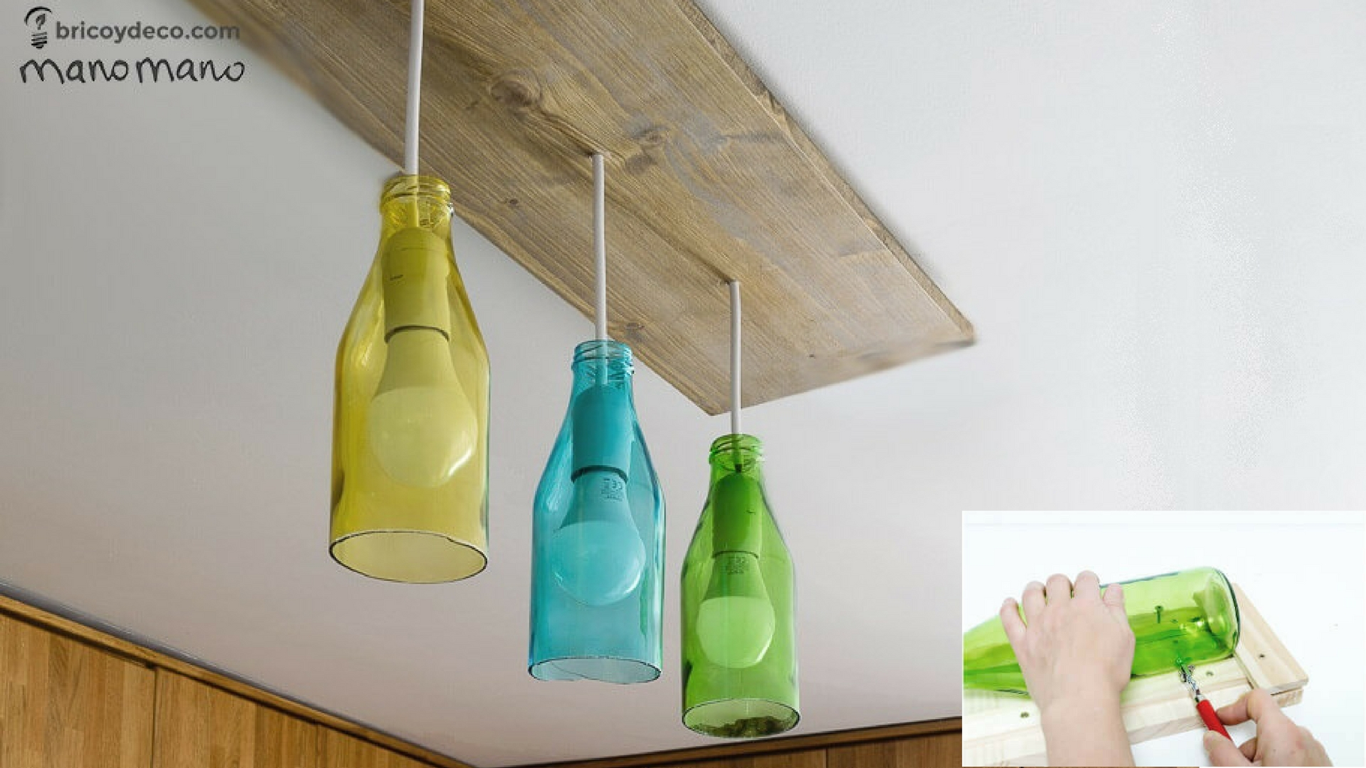 Recycled Plastic Bottle Lamp Glass Bottle Diy Bottle Cutter And Ceiling Light The Handy Mano