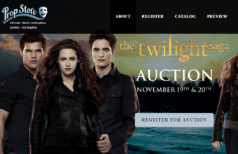 Twilight Auction, 900 oggetti di scena all'asta
