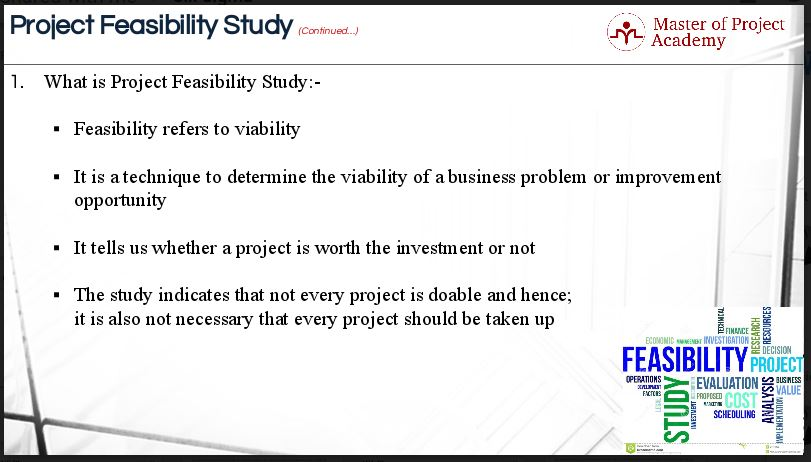 5 Areas of a Project Feasibility Study in Six Sigma - Master of