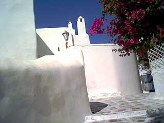 Perspective classique de Mykonos