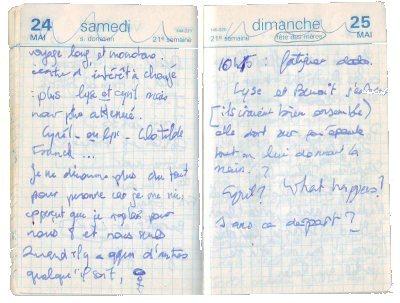 Mon journal intime en 1991