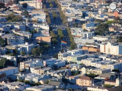 Panorama de San Francisco - Zoom sur Castro St
