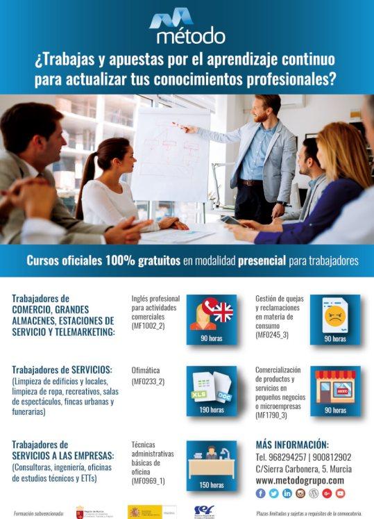 Cursos gratuitos en Murcia para trabajadores