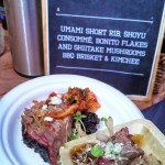 Umami Short Rib, Shoyu Consomme, Bonito Flakes AND Shiitake Mushrooms BBQ Brisket & Kimchee from Killen's BBQ