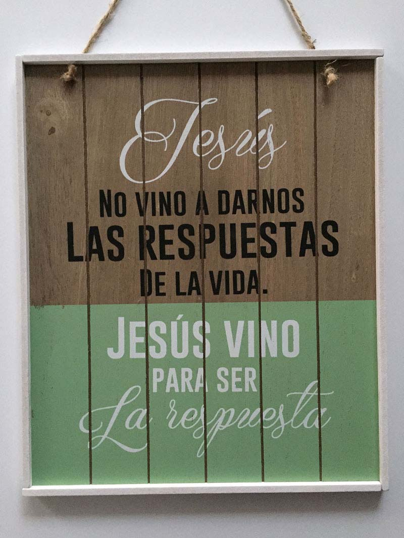 cuadros vintage mensaje biblico jesus respuesta