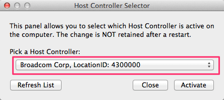 Host Controller Selector